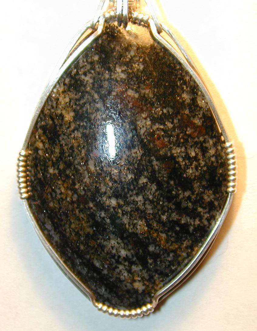 Acasta gneiss pendant - close up