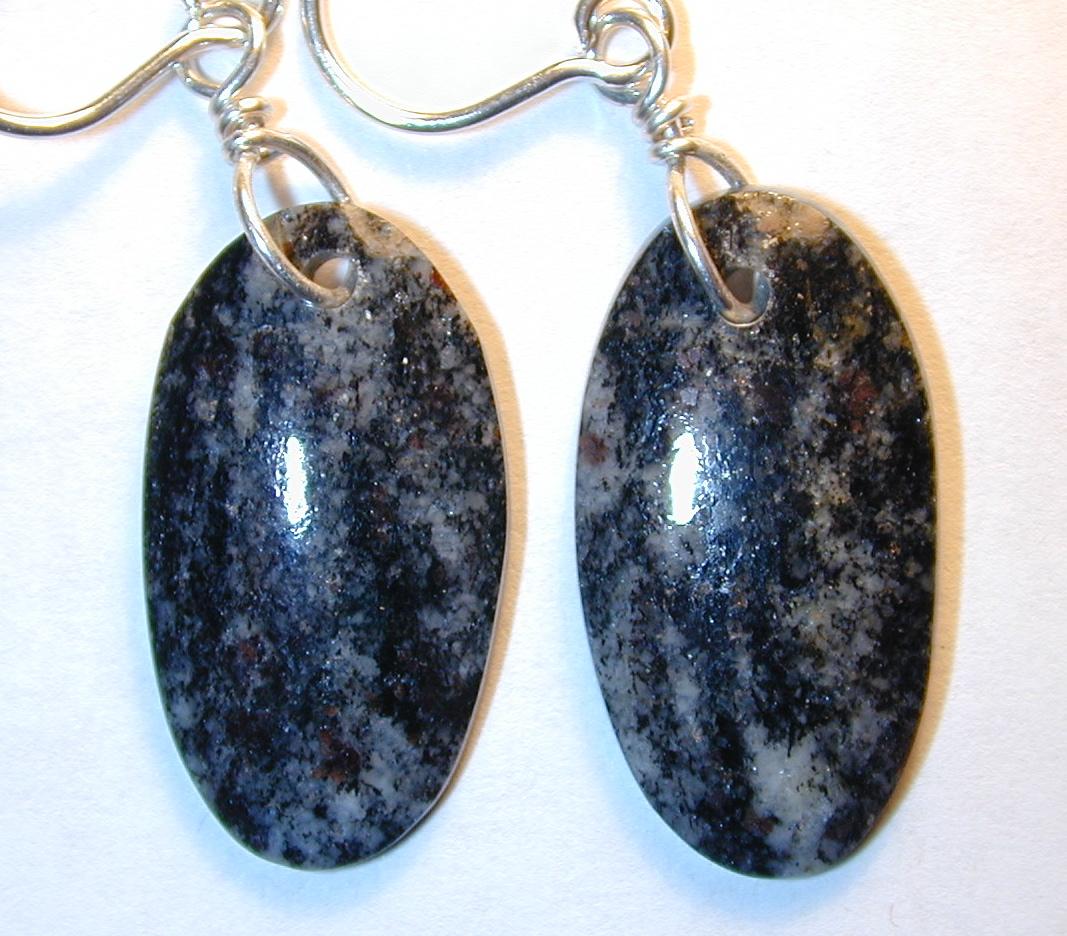 Acasta gneiss dangle earrings